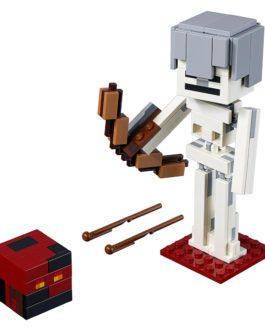 Minecraft BigFig Σκελετός με κύβο από μάγμα