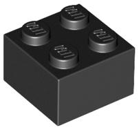 70707001 – Black brick 2×2