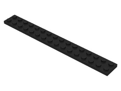 70707002 - Black plate 2x16