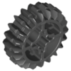 70707013 - Black technic gear 20 tooth double bevel