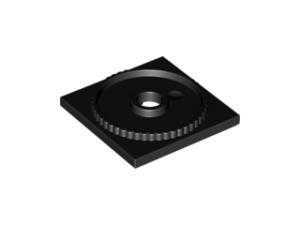 70707019 – Black turntable 4×4 square base locking