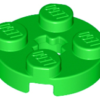 70707022 - Bright green plate round 2x2 with axle hole