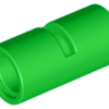 70707025 - Bright green technic pin connector round 2l with slot pin joiner round