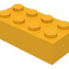 70707027 - Bright light orange brick 2x4