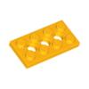 70707033 - Bright light orange technic plate 2x4 with 3 holes