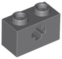 70707038 - Dark bluish gray technic brick 1x2 with axle hole