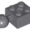 70707039 - Dark bluish gray technic brick modified 2x2 with ball and axle hole with 6 holes in ball