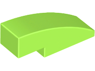 70707057 - Lime slope curved 3x1