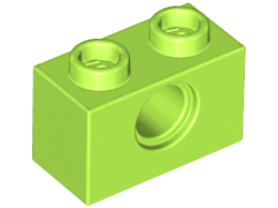 70707061 - Lime technic brick 1x2 with hole
