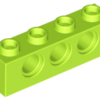 70707062 - Lime technic brick 1x4 with holes