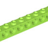 70707063 - Lime technic brick 1x8 with holes