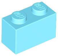 70707067 - Medium azure brick 1x2