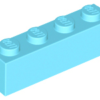 70707068 - Medium azure brick 1x4