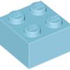 70707069 - Medium azure brick 2x2
