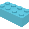 70707070 - Medium azure brick 2x4