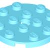 70707071 - Medium azure plate round 4x4 with hole