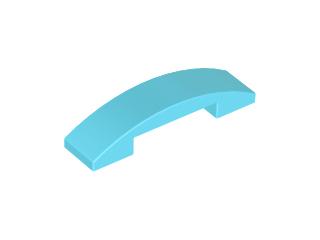 70707072 - Medium azure slope curved 4x1
