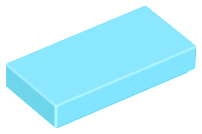 70707074 - Medium azure tile 1x2 with groove