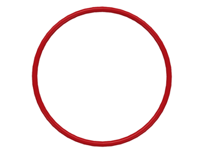 70707077 - Red rubber belt medium round cross section approx 3x3
