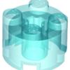 70707083 - Trans light blue brick round 2x2 with axle hole