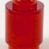 70707087 - Trans red brick round 1x1 open stud