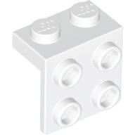 70707089 - White bracket 1x2 2x2