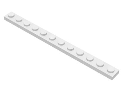 70707096 - White plate 1x12