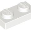 70707093 - White plate 1x2