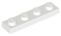 70707094 - White plate 1x4