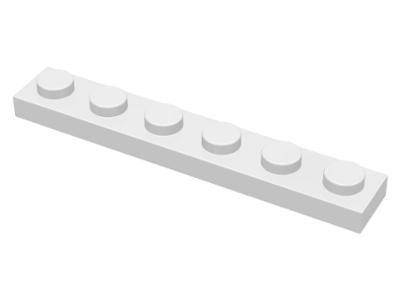 70707095 - White plate 1x6
