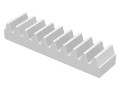 70707098 - White technic gear rack 1x4