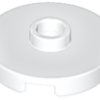 70707101 - White tile round 2x2 with open stud