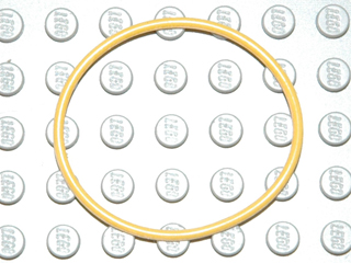 70707103 - Yellow rubber belt extra large approx 5x5